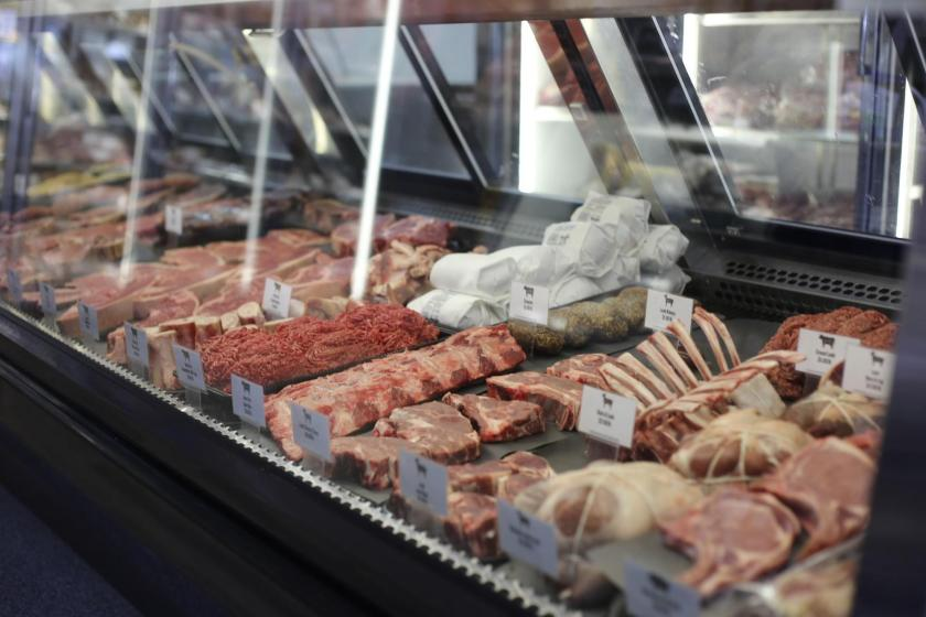 The meat counter at the Conscious Carnivore