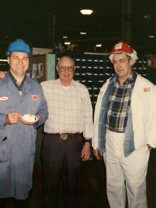 Bernie (the farthest on the right) in uniform with some coworkers.