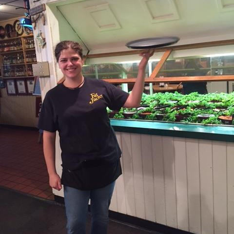 JANINE LUKASIK, SERVER AT FAT JACK'S BBQ